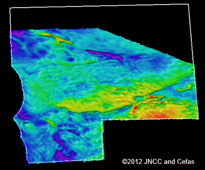 Figure 2: Bottom topography of Farnes East MCZ obtained from the joint 2012 survey with Cefas.