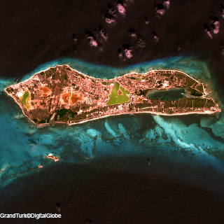 Earth observation image of Grand Turk © Global Digital