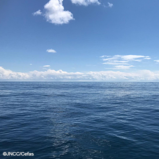 Calm offshore seas and blue sky ©JNCC/Cefas