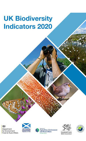 Coverpage of UK Biodiversity Indicators 2020